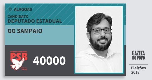 Santinho Gg Sampaio 40000 (PSB) Deputado Estadual | Alagoas | Eleições 2018
