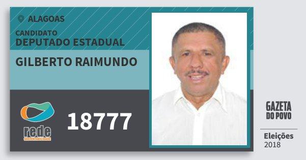 Santinho Gilberto Raimundo 18777 (REDE) Deputado Estadual   Alagoas   Eleições 2018