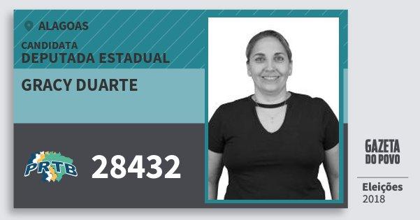 Santinho Gracy Duarte 28432 (PRTB) Deputada Estadual | Alagoas | Eleições 2018