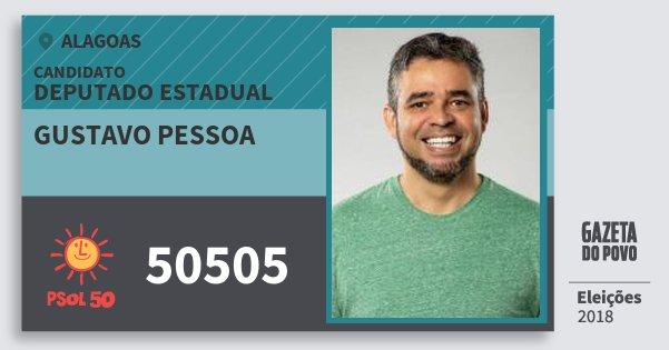 Santinho Gustavo Pessoa 50505 (PSOL) Deputado Estadual | Alagoas | Eleições 2018