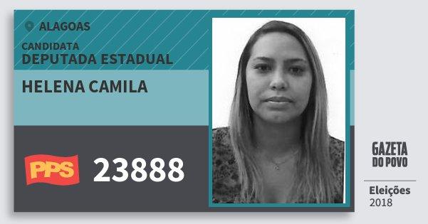 Santinho Helena Camila 23888 (PPS) Deputada Estadual | Alagoas | Eleições 2018
