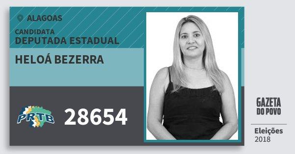 Santinho Heloá Bezerra 28654 (PRTB) Deputada Estadual | Alagoas | Eleições 2018