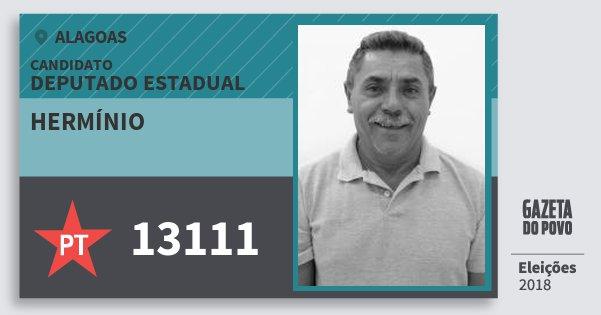Santinho Hermínio 13111 (PT) Deputado Estadual | Alagoas | Eleições 2018