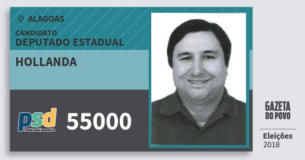 Santinho Hollanda 55000 (PSD) Deputado Estadual | Alagoas | Eleições 2018