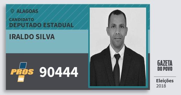 Santinho Iraldo Silva 90444 (PROS) Deputado Estadual | Alagoas | Eleições 2018