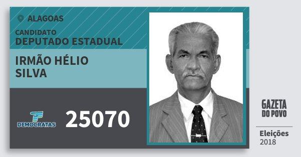 Santinho Irmão Hélio Silva 25070 (DEM) Deputado Estadual | Alagoas | Eleições 2018