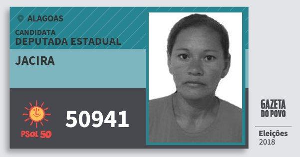 Santinho Jacira 50941 (PSOL) Deputada Estadual | Alagoas | Eleições 2018