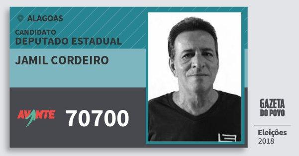 Santinho Jamil Cordeiro 70700 (AVANTE) Deputado Estadual | Alagoas | Eleições 2018
