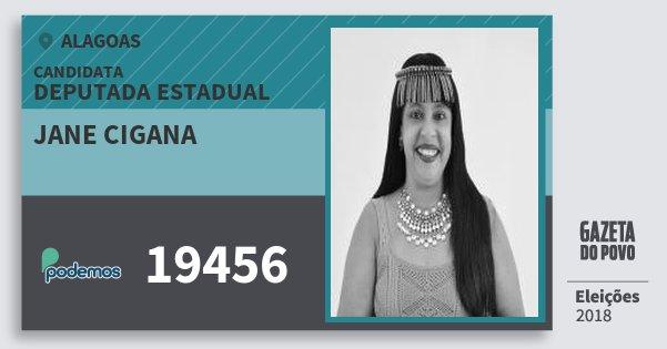 Santinho Jane Cigana 19456 (PODE) Deputada Estadual | Alagoas | Eleições 2018
