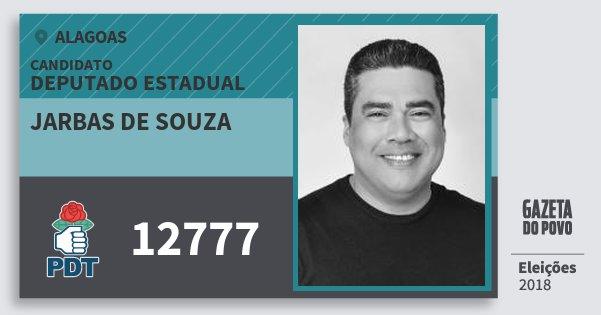 Santinho Jarbas de Souza 12777 (PDT) Deputado Estadual | Alagoas | Eleições 2018