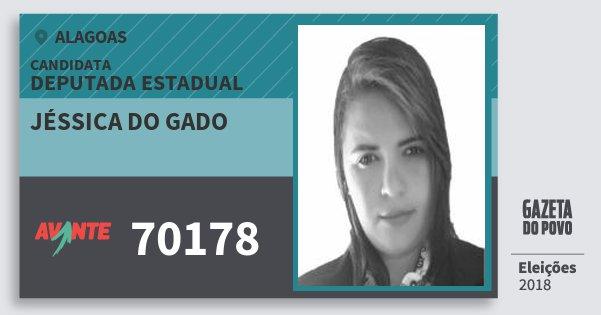 Santinho Jéssica do Gado 70178 (AVANTE) Deputada Estadual   Alagoas   Eleições 2018