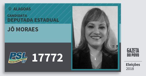 Santinho Jô Moraes 17772 (PSL) Deputada Estadual | Alagoas | Eleições 2018