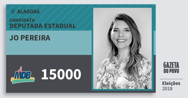 Santinho Jo Pereira 15000 (MDB) Deputada Estadual | Alagoas | Eleições 2018