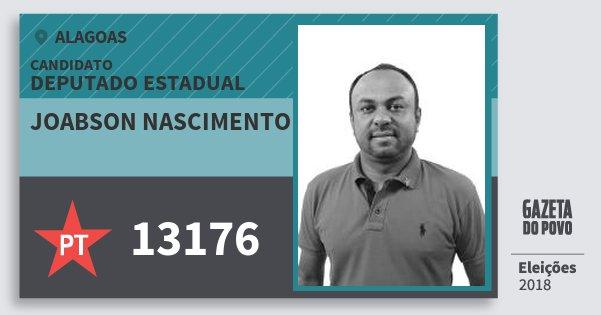 Santinho Joabson Nascimento 13176 (PT) Deputado Estadual | Alagoas | Eleições 2018