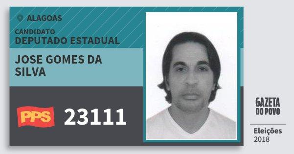 Santinho Jose Gomes da Silva 23111 (PPS) Deputado Estadual | Alagoas | Eleições 2018