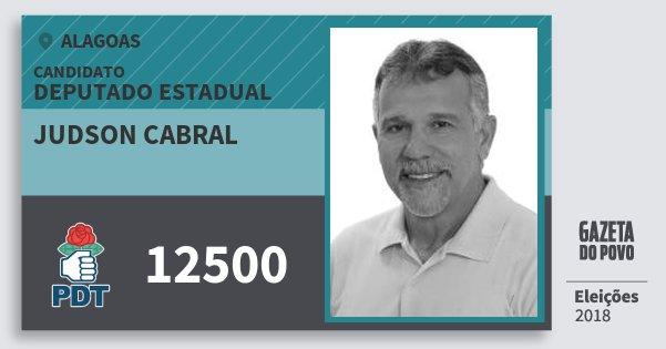 Santinho Judson Cabral 12500 (PDT) Deputado Estadual | Alagoas | Eleições 2018