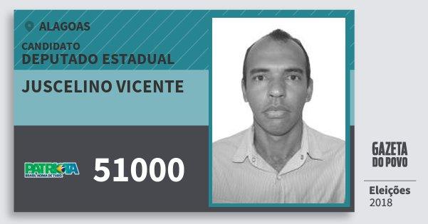 Santinho Juscelino Vicente 51000 (PATRI) Deputado Estadual | Alagoas | Eleições 2018