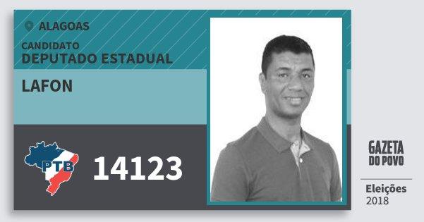 Santinho Lafon 14123 (PTB) Deputado Estadual | Alagoas | Eleições 2018
