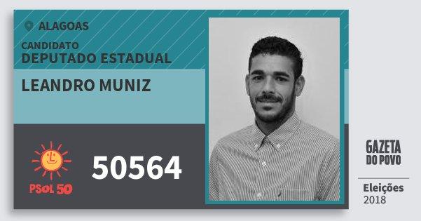 Santinho Leandro Muniz 50564 (PSOL) Deputado Estadual | Alagoas | Eleições 2018