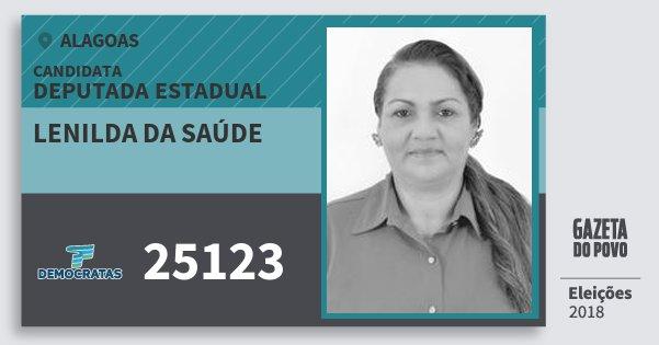Santinho Lenilda da Saúde 25123 (DEM) Deputada Estadual   Alagoas   Eleições 2018