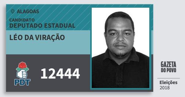Santinho Léo da Viração 12444 (PDT) Deputado Estadual | Alagoas | Eleições 2018