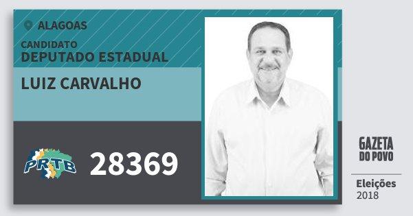 Santinho Luiz Carvalho 28369 (PRTB) Deputado Estadual | Alagoas | Eleições 2018