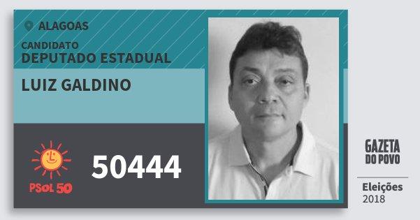 Santinho Luiz Galdino 50444 (PSOL) Deputado Estadual | Alagoas | Eleições 2018