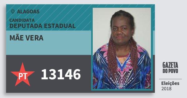Santinho Mãe Vera 13146 (PT) Deputada Estadual | Alagoas | Eleições 2018