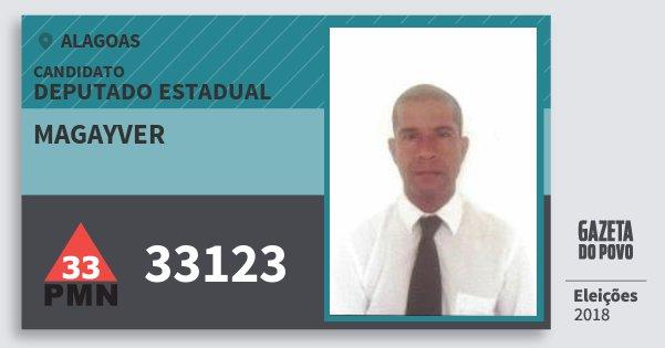 Santinho Magayver 33123 (PMN) Deputado Estadual | Alagoas | Eleições 2018