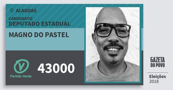 Santinho Magno do Pastel 43000 (PV) Deputado Estadual | Alagoas | Eleições 2018