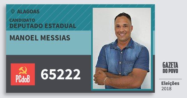 Santinho Manoel Messias 65222 (PC do B) Deputado Estadual   Alagoas   Eleições 2018