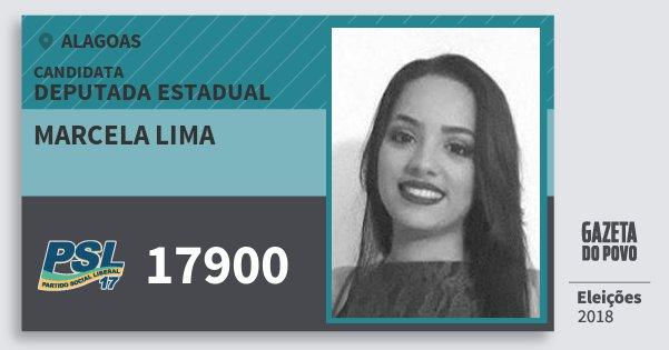 Santinho Marcela Lima 17900 (PSL) Deputada Estadual | Alagoas | Eleições 2018