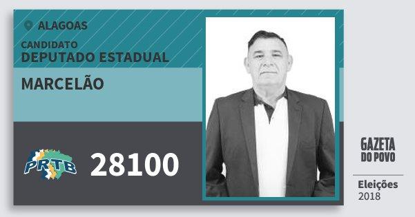 Santinho Marcelão 28100 (PRTB) Deputado Estadual | Alagoas | Eleições 2018