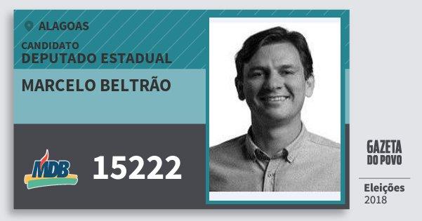 Santinho Marcelo Beltrão 15222 (MDB) Deputado Estadual | Alagoas | Eleições 2018