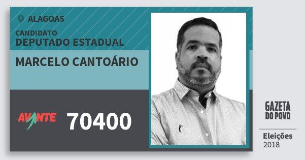 Santinho Marcelo Cantoário 70400 (AVANTE) Deputado Estadual | Alagoas | Eleições 2018