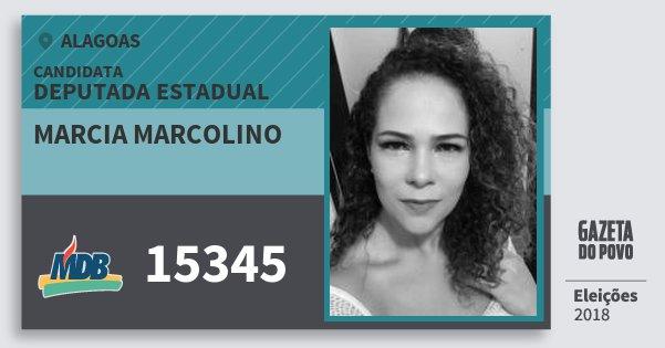 Santinho Marcia Marcolino 15345 (MDB) Deputada Estadual | Alagoas | Eleições 2018