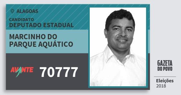 Santinho Marcinho do Parque Aquático 70777 (AVANTE) Deputado Estadual | Alagoas | Eleições 2018