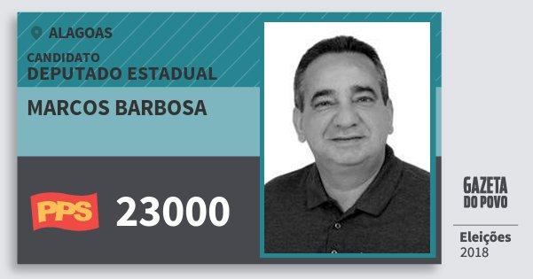 Santinho Marcos Barbosa 23000 (PPS) Deputado Estadual | Alagoas | Eleições 2018