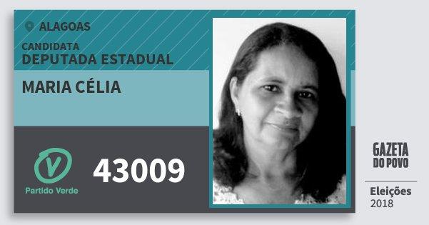 Santinho Maria Célia 43009 (PV) Deputada Estadual | Alagoas | Eleições 2018