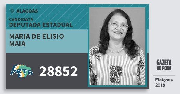 Santinho Maria de Elisio Maia 28852 (PRTB) Deputada Estadual | Alagoas | Eleições 2018