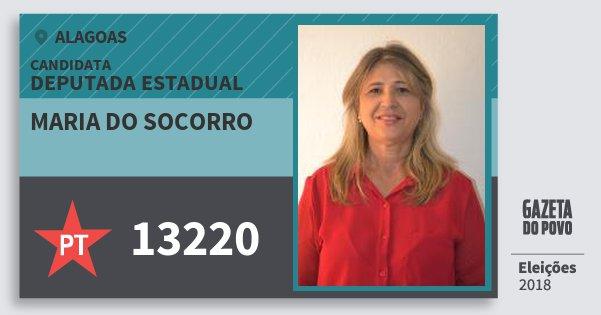 Santinho Maria do Socorro 13220 (PT) Deputada Estadual | Alagoas | Eleições 2018