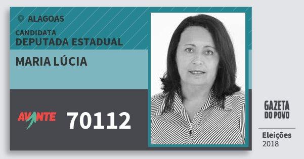 Santinho Maria Lúcia 70112 (AVANTE) Deputada Estadual | Alagoas | Eleições 2018