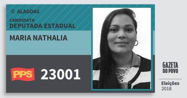 Santinho Maria Nathalia 23001 (PPS) Deputada Estadual | Alagoas | Eleições 2018