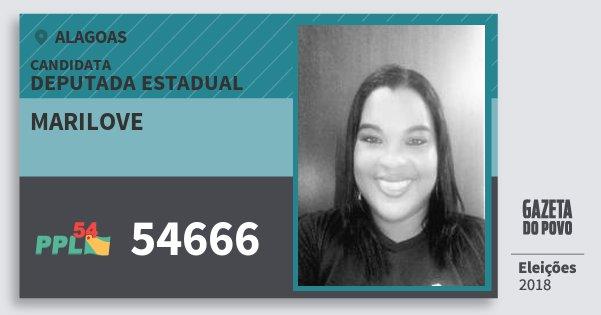 Santinho Marilove 54666 (PPL) Deputada Estadual | Alagoas | Eleições 2018
