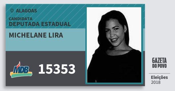 Santinho Michelane Lira 15353 (MDB) Deputada Estadual | Alagoas | Eleições 2018
