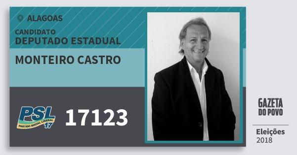 Santinho Monteiro Castro 17123 (PSL) Deputado Estadual | Alagoas | Eleições 2018