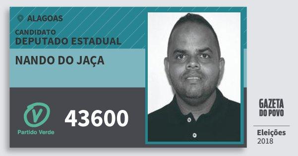 Santinho Nando do Jaça 43600 (PV) Deputado Estadual | Alagoas | Eleições 2018