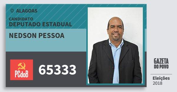 Santinho Nedson Pessoa 65333 (PC do B) Deputado Estadual | Alagoas | Eleições 2018