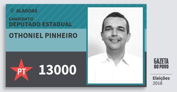 Santinho Othoniel Pinheiro 13000 (PT) Deputado Estadual | Alagoas | Eleições 2018