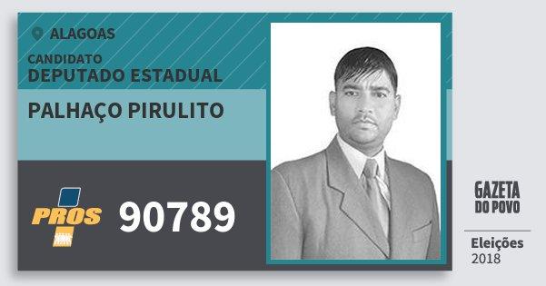 Santinho Palhaço Pirulito 90789 (PROS) Deputado Estadual   Alagoas   Eleições 2018